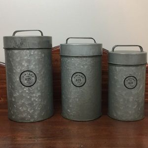 Galvanized Canister Set